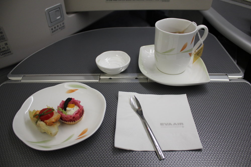 EVA Air business class – Amuse bouche