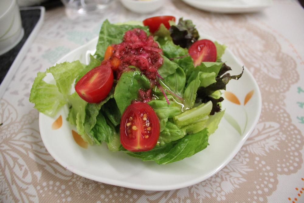 EVA Air business class – Garden salad