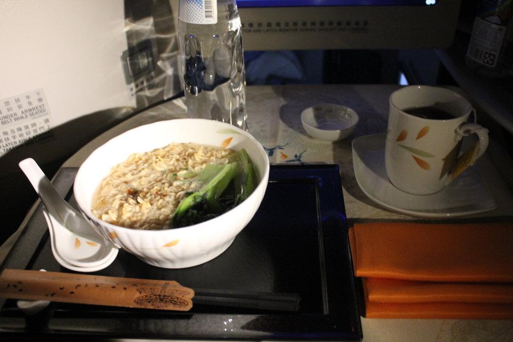 EVA Air business class – Instant noodles