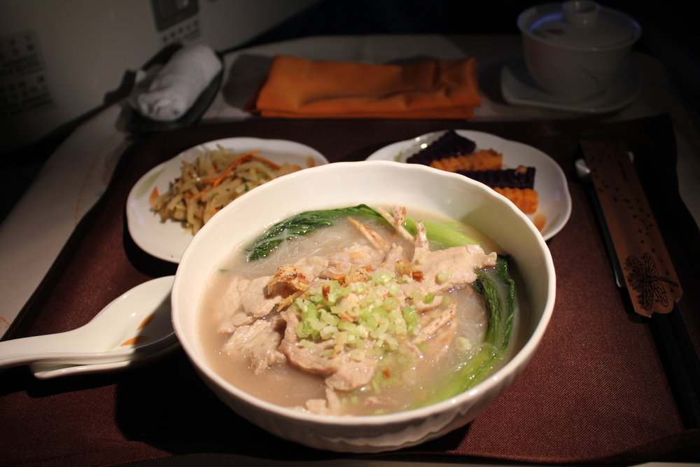 EVA Air business class – Pork and taro vermicelli