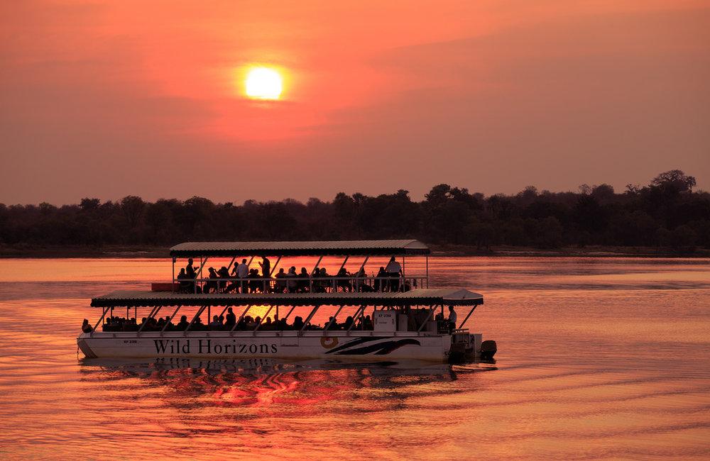 Victoria Falls – Zambezi sunset cruise