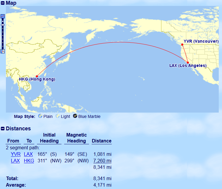 Vancouver to Hong Kong via Los Angeles | Prince of Travel | Miles & Points