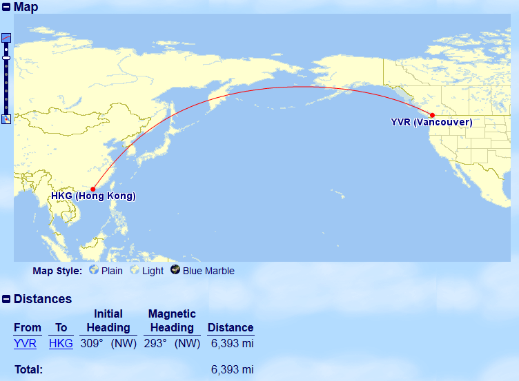 Vancouver to Hong Kong | Prince of Travel | Miles & Points