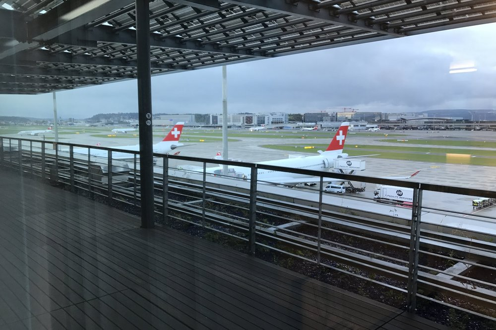 Swiss First Class Lounge Zurich – View from day room