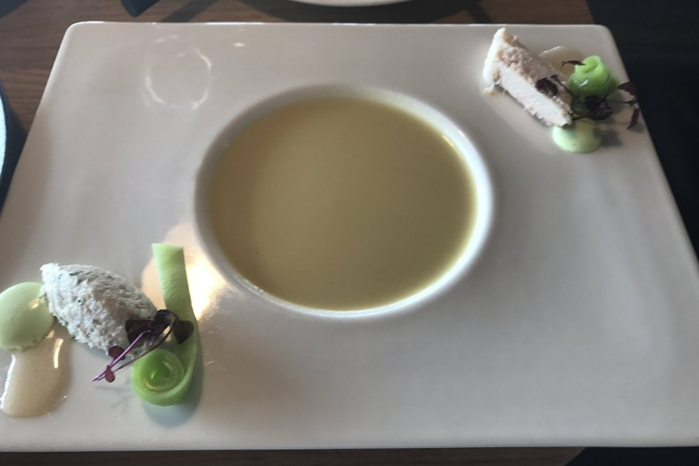 Swiss First Class Lounge Zurich – Cream of horseradish soup