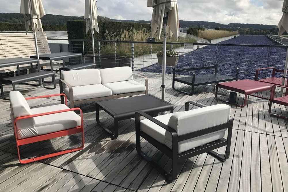 Swiss First Class Lounge Zurich – Patio furniture