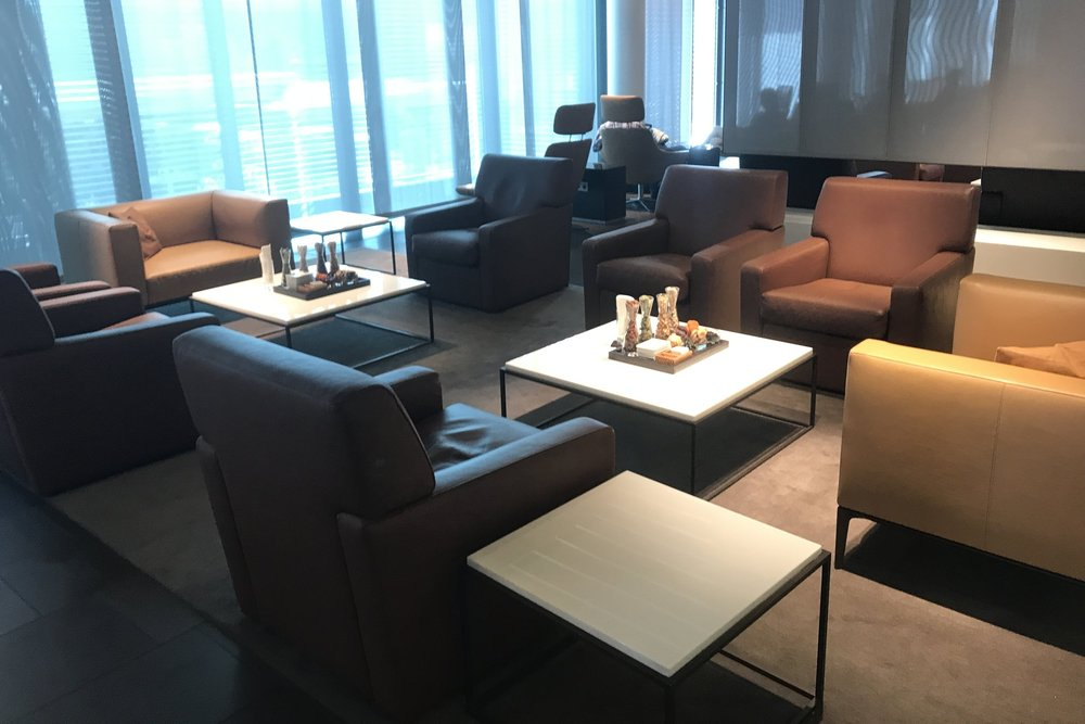 Lufthansa First Class Terminal Frankfurt – Seating area