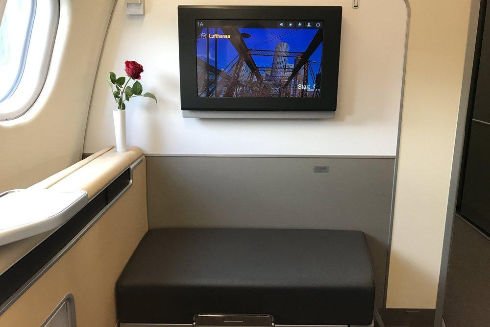 Lufthansa First Class – Seat 1K