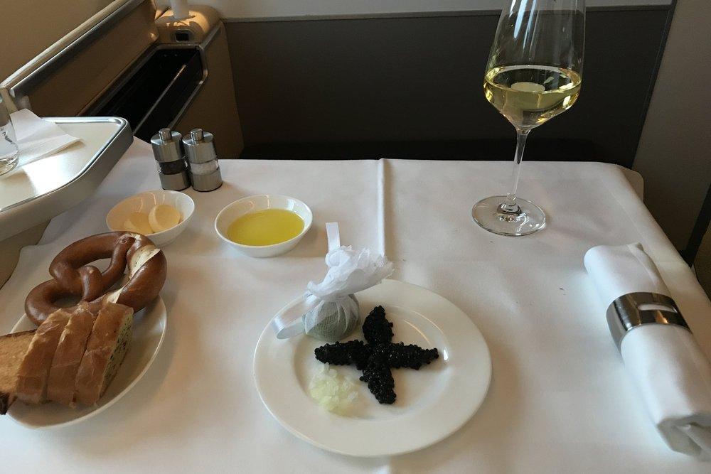 Lufthansa First Class – Caviar