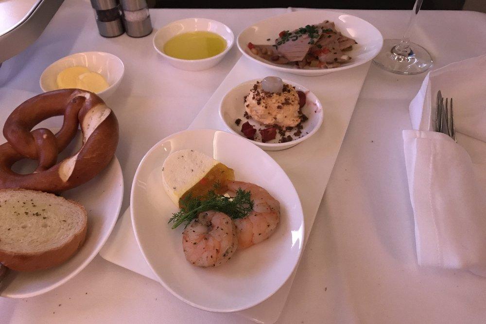 Lufthansa First Class – Appetizers