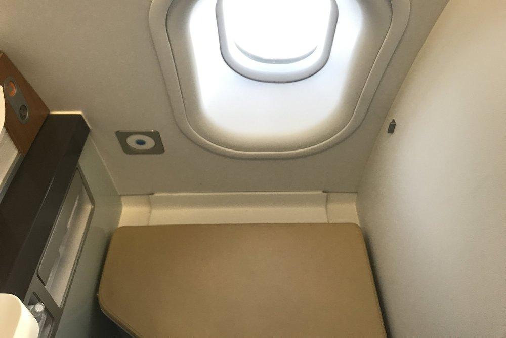 Lufthansa First Class – Lavatory