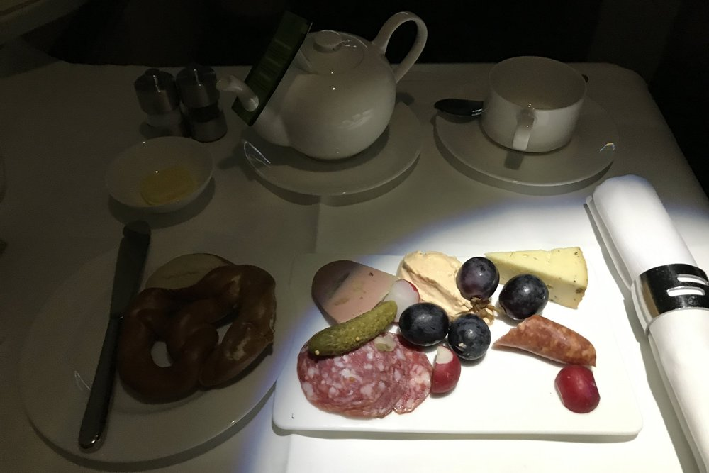 Lufthansa First Class – Breakfast
