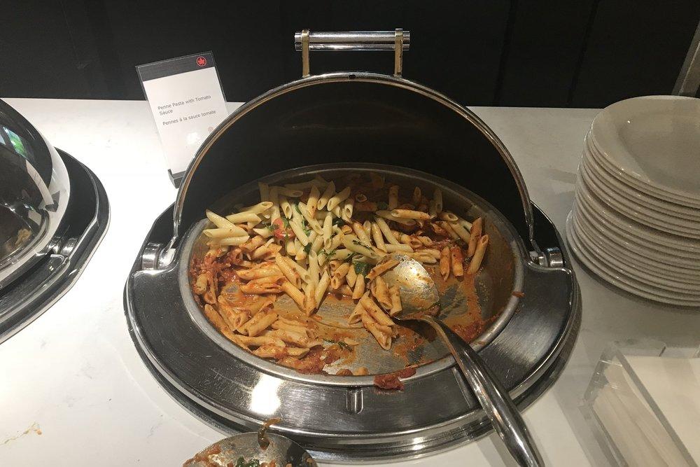 Air Canada Maple Leaf Lounge Calgary (Domestic) – Pasta