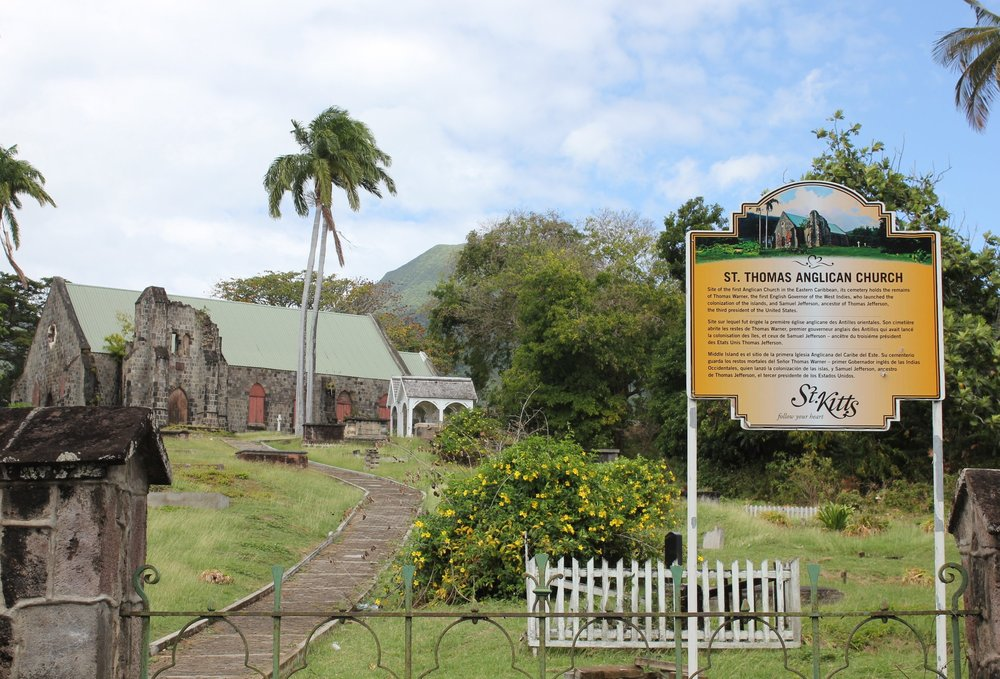 St. Thomas Anglican Church, one of many churches dotted around the island