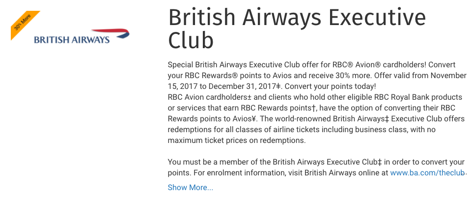 RBC to Avios 30% Conversion Bonus | Prince of Travel | Miles & Points