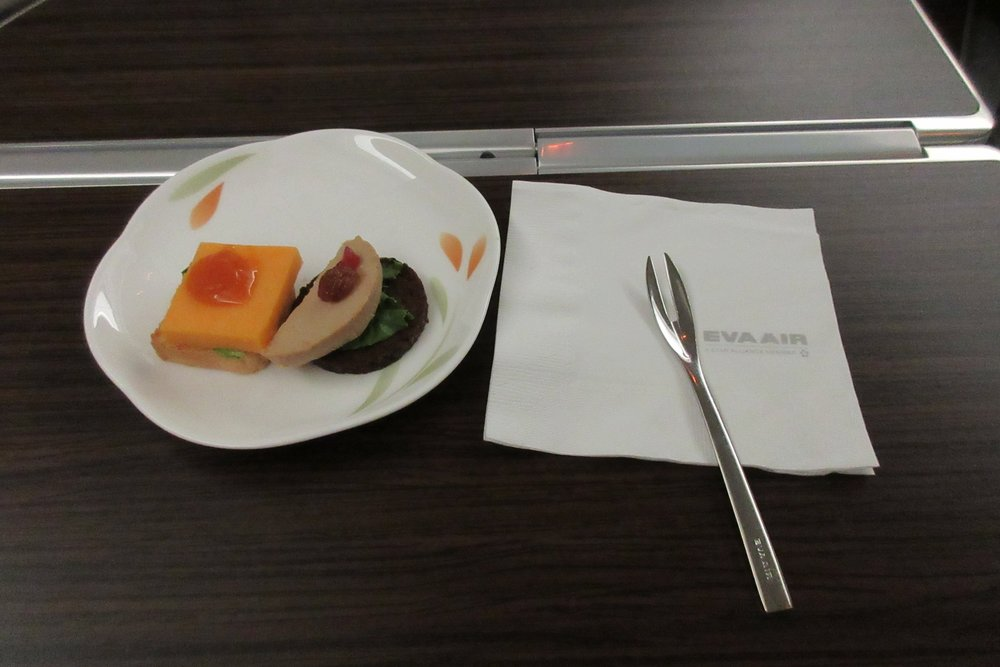 EVA Air business class Toronto to Taipei – Amuse bouche