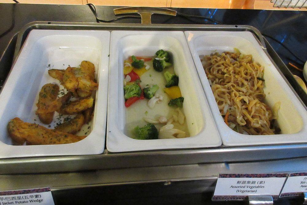 Singapore Airlines SilverKris Lounge Taipei – Food spread