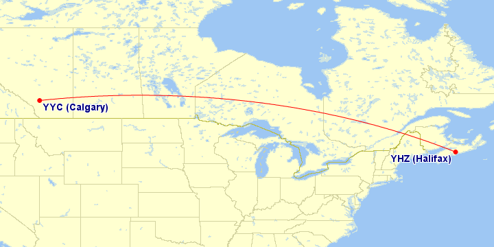 Air Canada flights from Calgary to Atlantic Canada