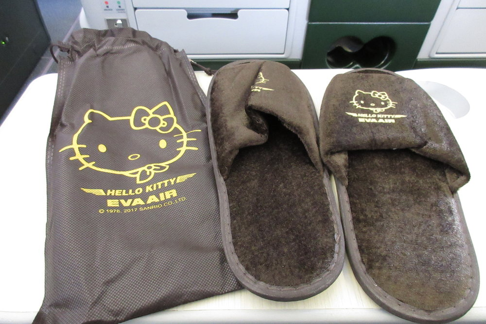 EVA Air regional business class – Slippers