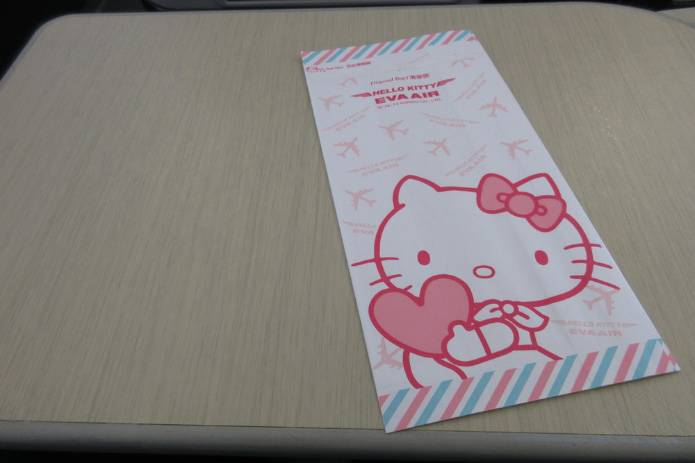 EVA Air regional business class – Sanitation bag