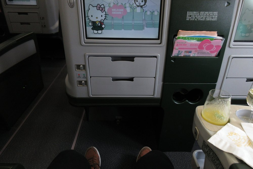 EVA Air regional business class – Legroom