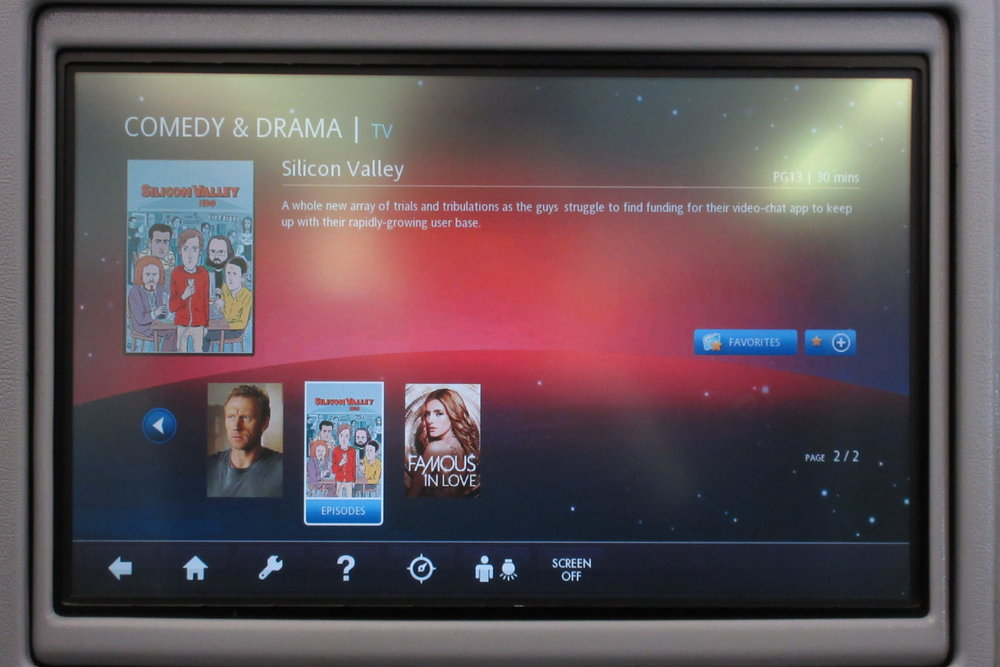 EVA Air regional business class – TV selection