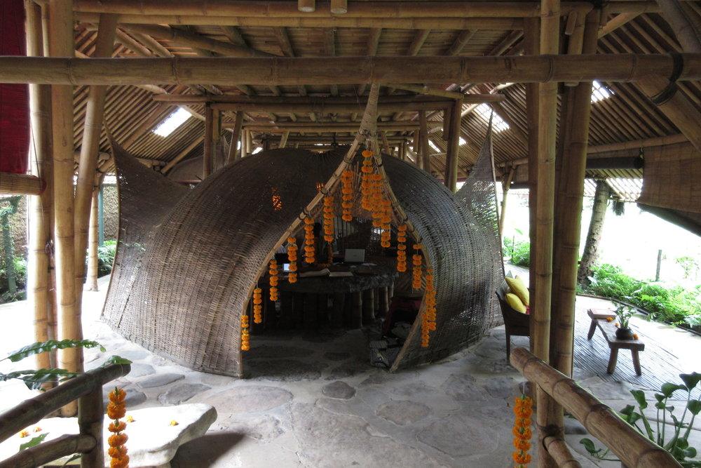 Bambu Indah Ubud – Check-in tent