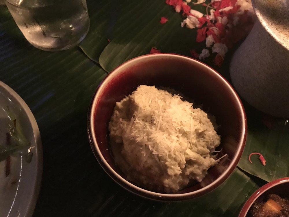 Bambu Indah Ubud – Christmas dinner mashed cauliflower