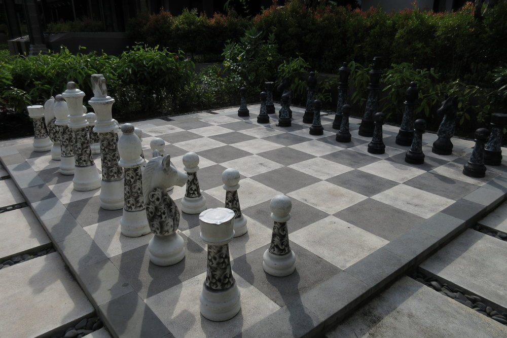 The Ritz-Carlton, Bali – Life-sized chessboard