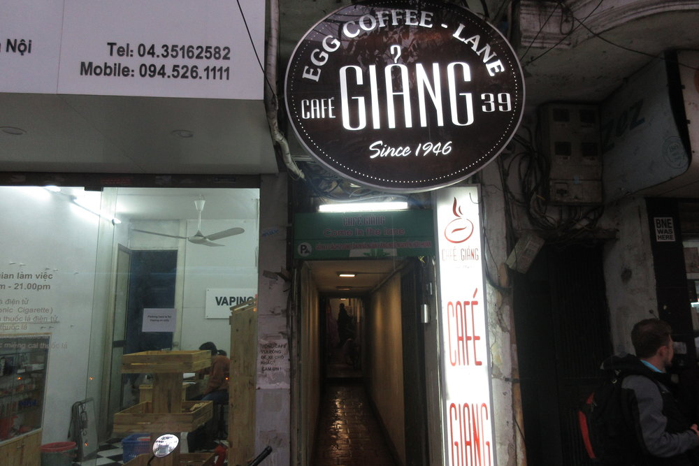 Old Quarter, Hanoi – Cafe Giang entrance