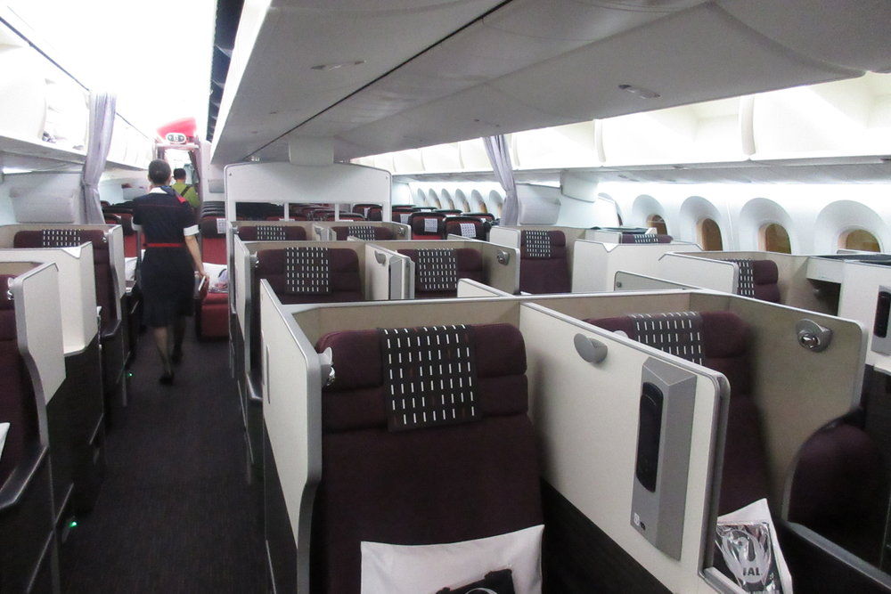 Japan Airlines business class – Cabin