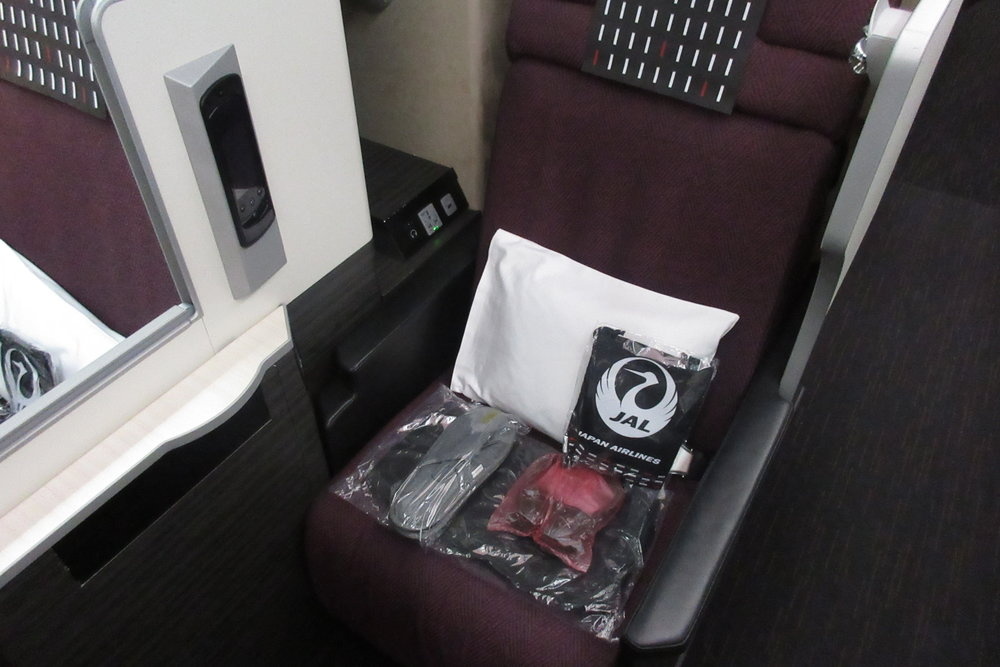 Japan Airlines business class – Amenities