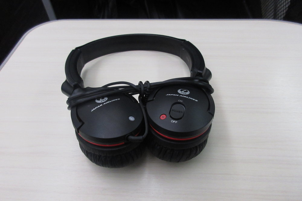 Japan Airlines business class – Headphones