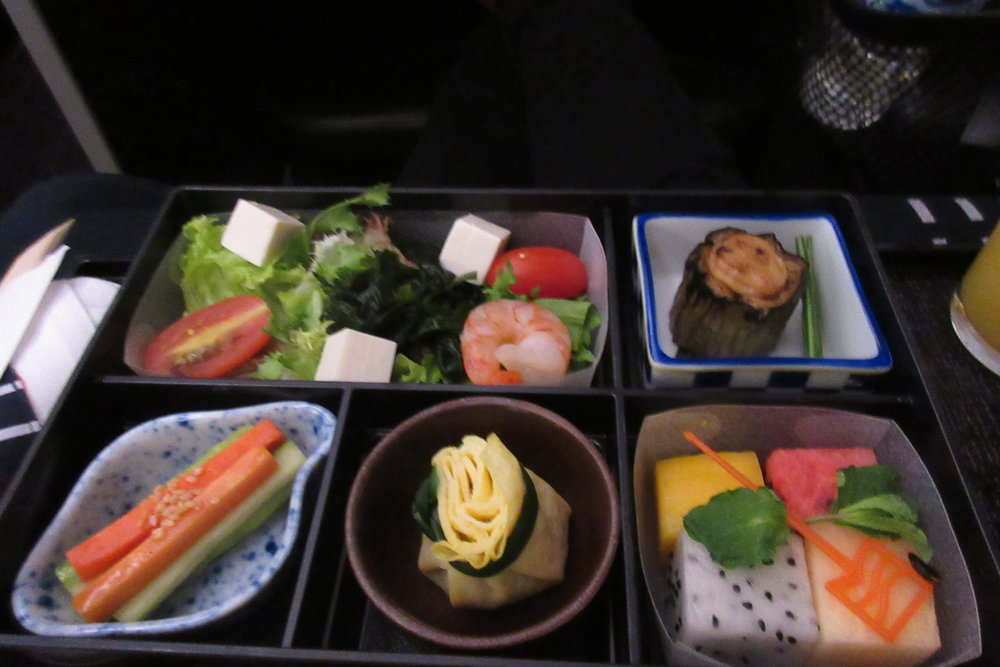 Japan Airlines business class – Bento box breakfast