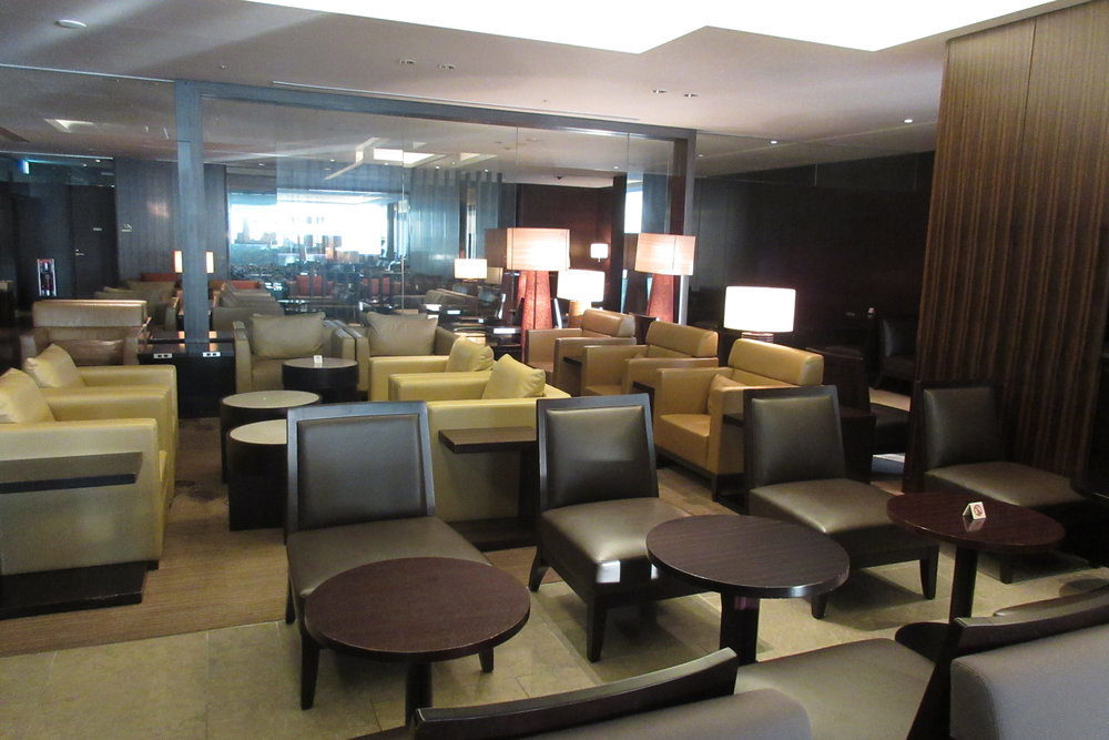 Japan Airlines First Class Lounge Tokyo Narita – Seating area