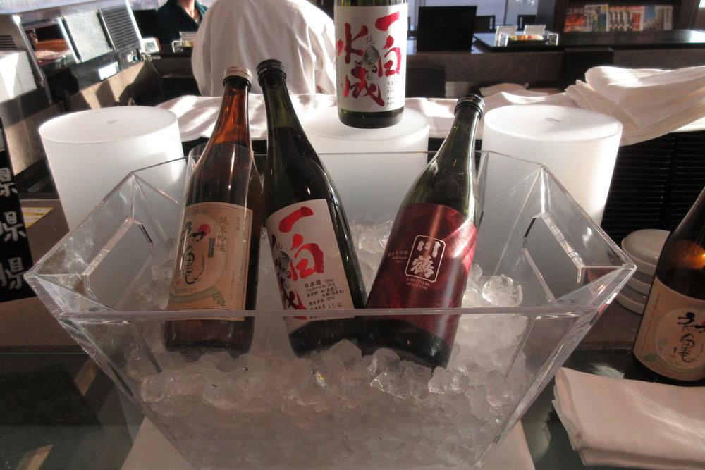 Japan Airlines First Class Lounge Tokyo Narita – Sake
