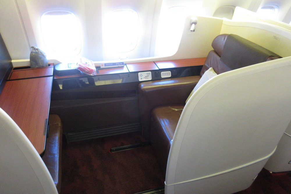Japan Airlines First Class – Window seat