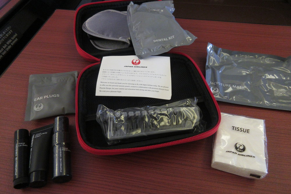 Japan Airlines First Class – Amenity kit contents