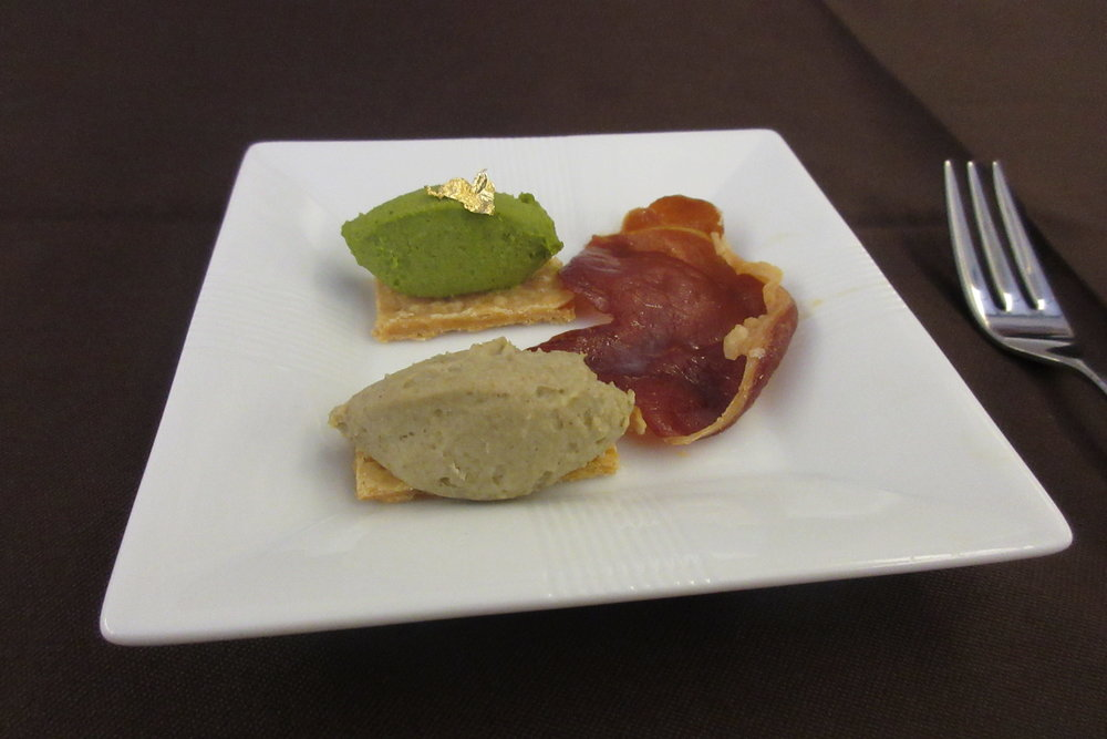 Japan Airlines First Class – Goose liver amuse bouche