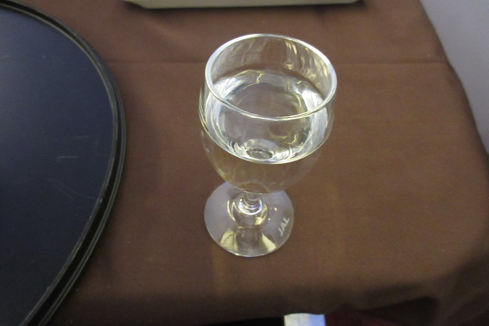 Japan Airlines First Class – Sake
