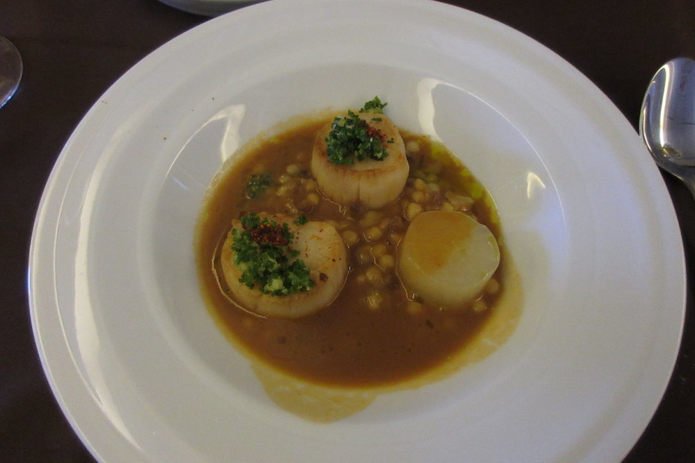 Japan Airlines First Class – Scallop risotto