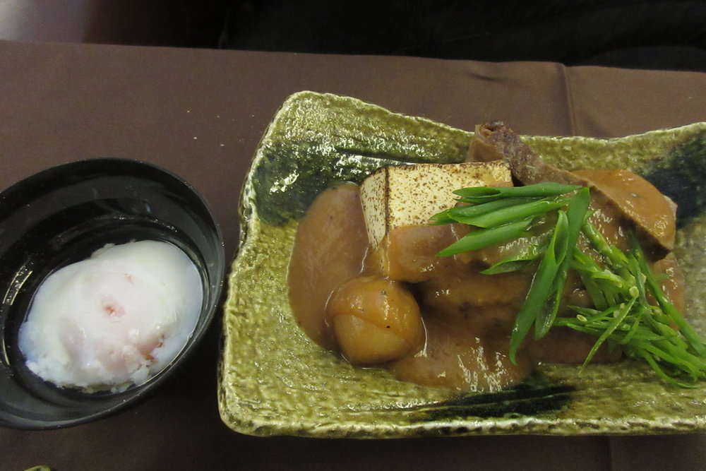 Japan Airlines First Class – Beef fillet sukiyaki with slow-cooked egg