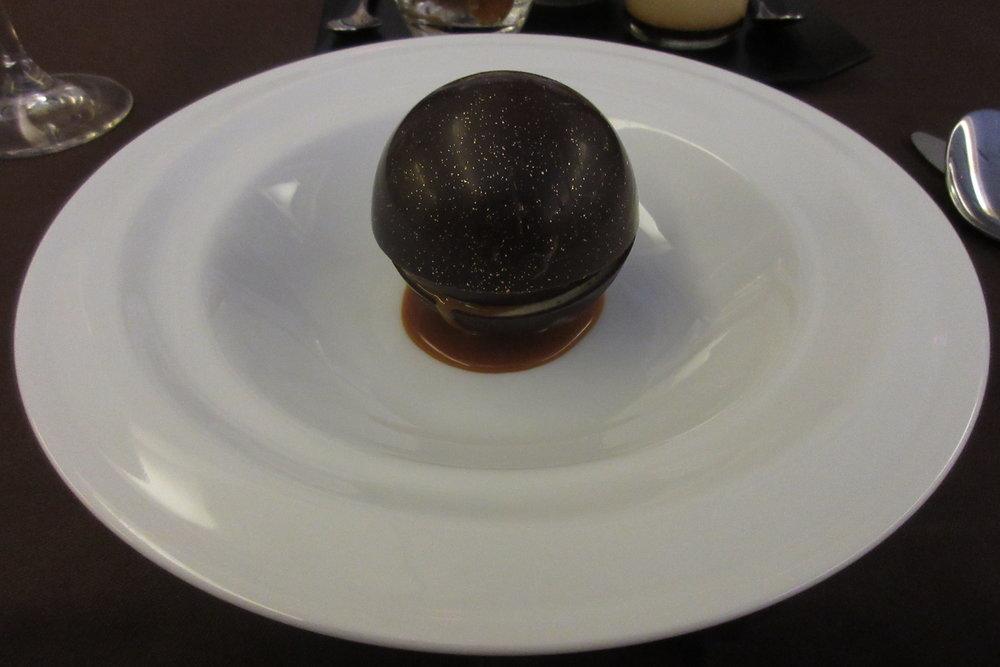Japan Airlines First Class – Mont Blanc dessert