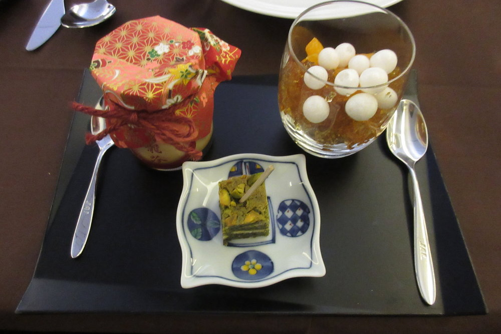 Japan Airlines First Class – Japanese desserts