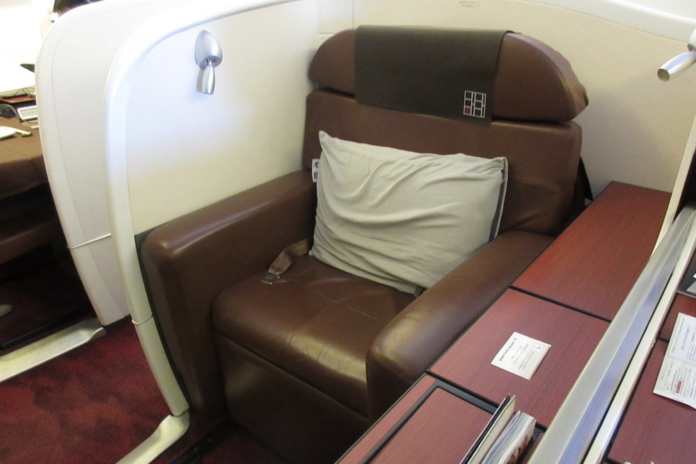 Japan Airlines First Class – Seat 1G