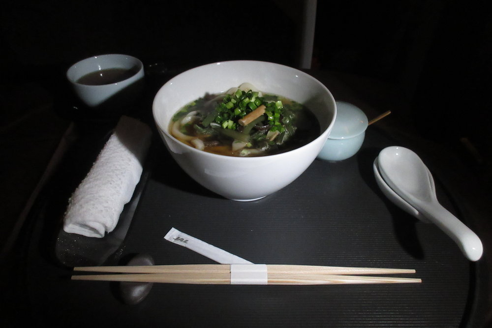 Japan Airlines First Class – Udon noodles
