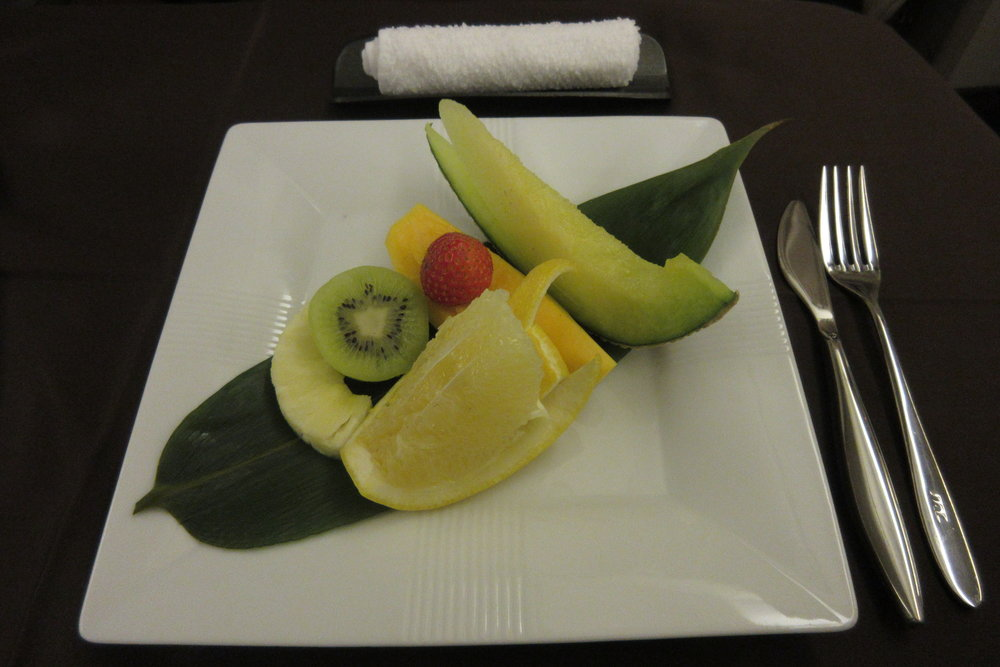 Japan Airlines First Class – Fruit plate