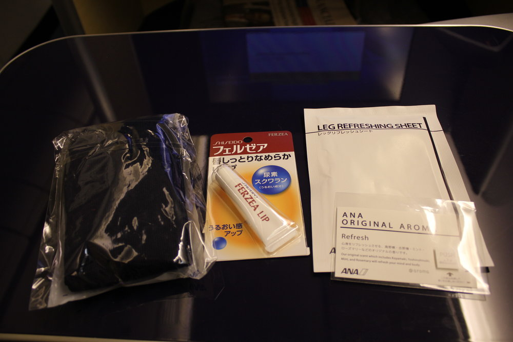 ANA First Class – Extra amenities
