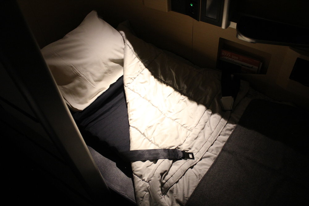 ANA First Class – Bed