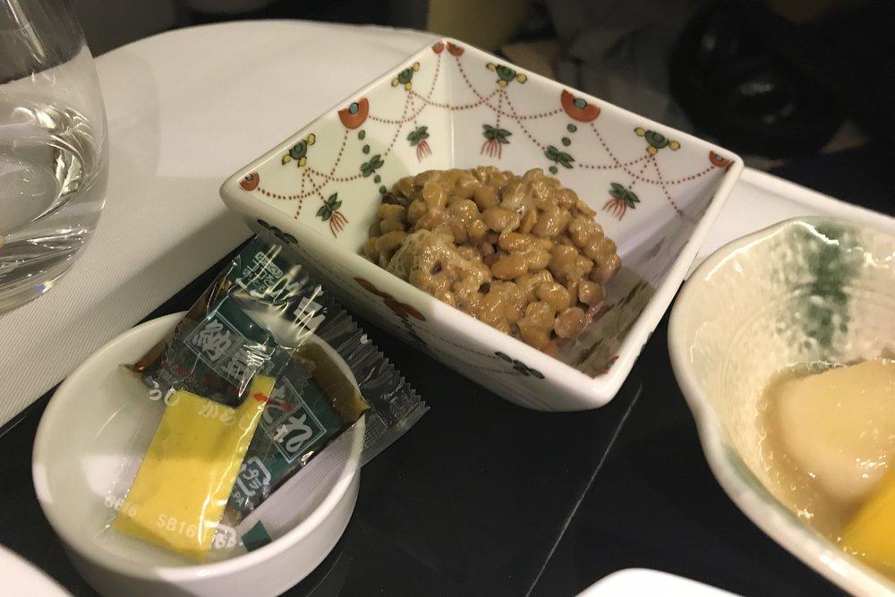 ANA First Class – Natto